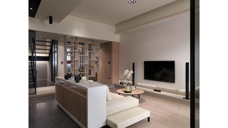 5-10万110平米日式复式装修效果图,日式简约风格公寓图片