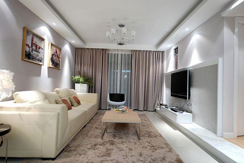 现代简约风格温馨5-10万100平米客厅装潢
