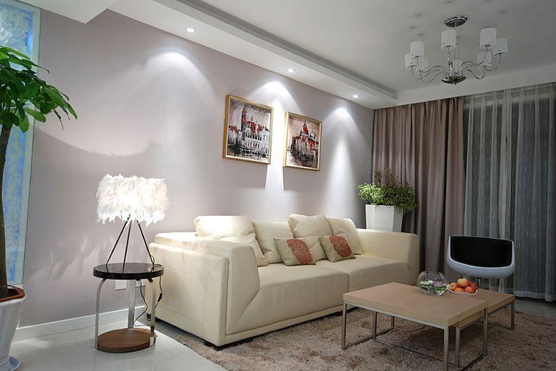 现代简约风格温馨5-10万100平米客厅沙发沙发图片