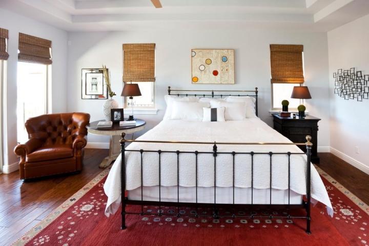 美式风格艺术卧室背景墙设计