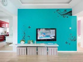 提升家的艺术氛围 21个电视手绘墙设计图
