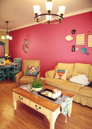 美式风格梦幻10-15万90平米客厅效果图