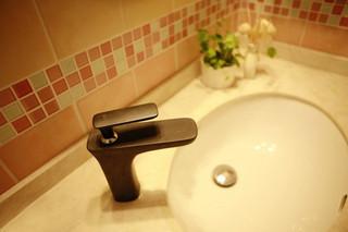 美式风格梦幻10-15万90平米洗手台效果图