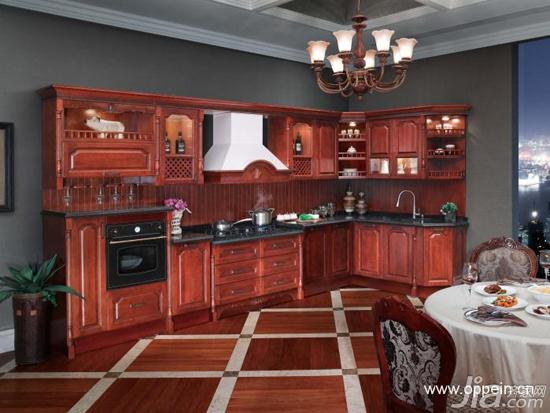 欧派橱柜效果图:18套欧式风格橱柜图片图片