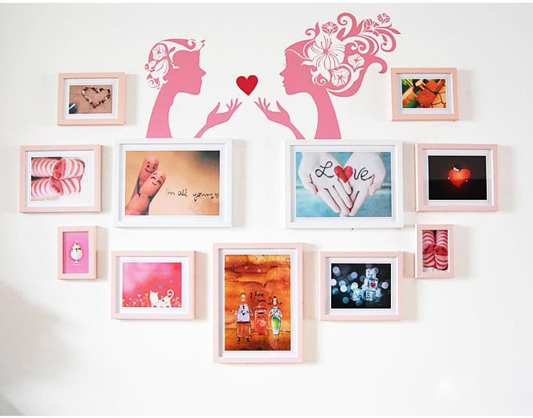 心形照片墙设计图片