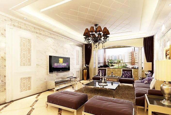 欧式风格大气电视背景墙设计