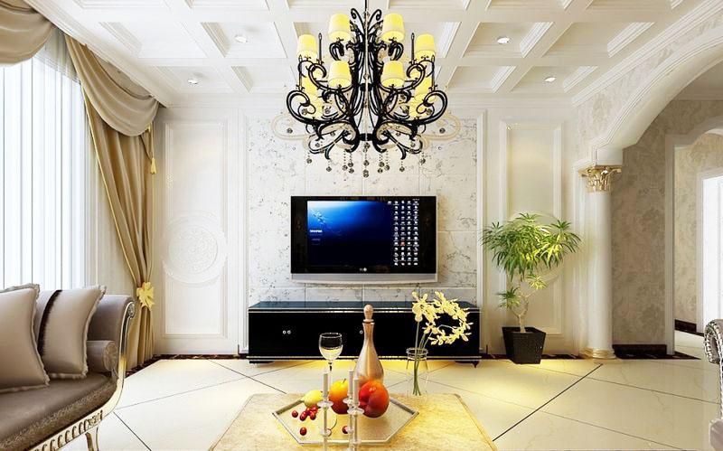 欧式风格大气电视背景墙装修图片