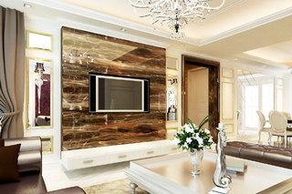 欧式风格大气电视背景墙效果图