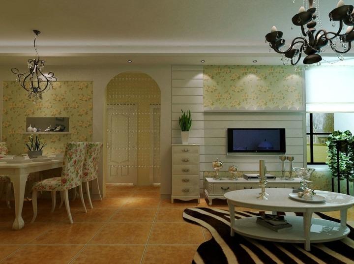 田园风格白色家具效果图
