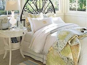 浪漫舒适之家 18张田园风卧室家纺图片