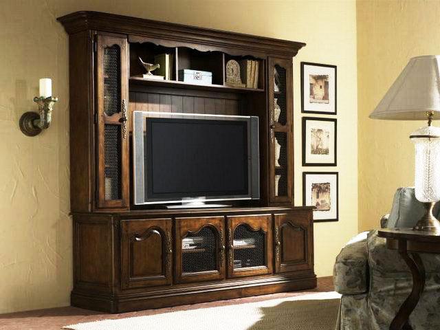 美式风格大气电视柜效果图