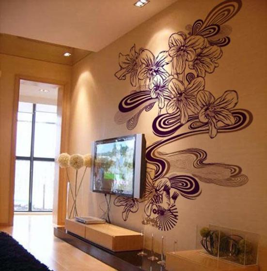 简约风格时尚手绘墙设计图