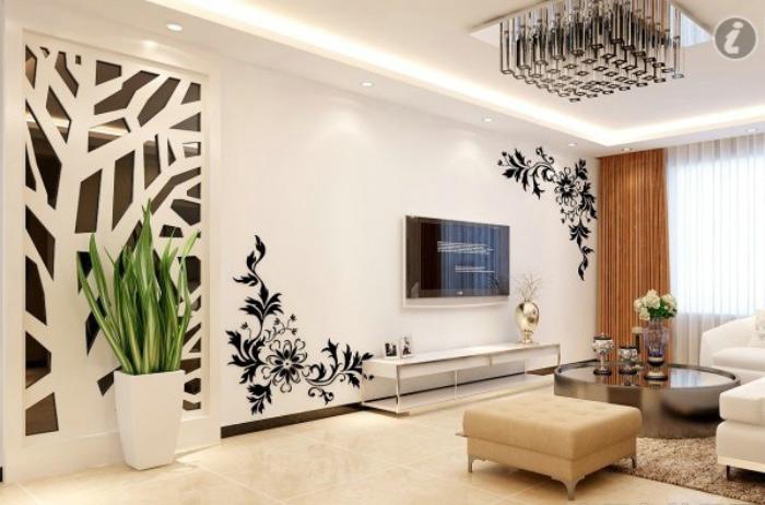 简约风格时尚手绘墙效果图图片