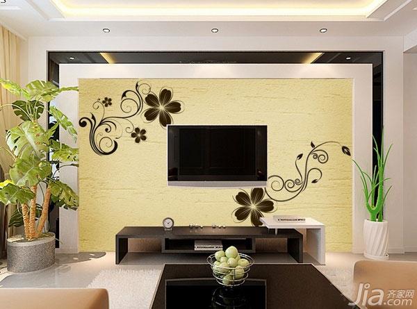 2014最新硅藻泥电视背景墙设计