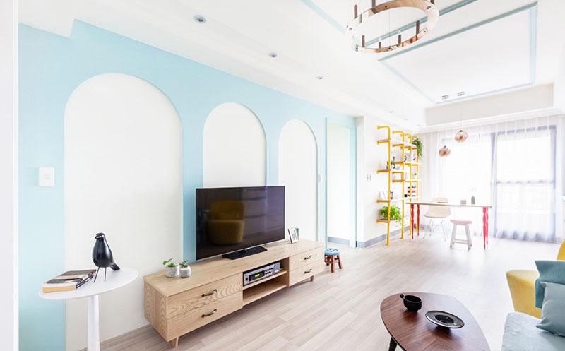地中海风格墙面 20款电视背景墙效果图10/20图片