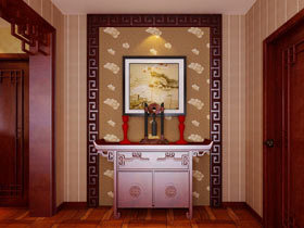 经典中式风 19个中式玄关柜装修图