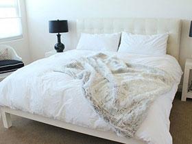 16張白色簡約臥室床圖片 整潔素雅