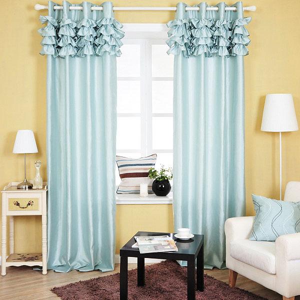 艺术蓝色窗帘图片