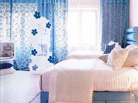 22款蓝色窗帘图片 给家穿上神秘外衣