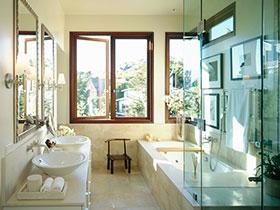 卫生间干湿分离妙招 20款玻璃隔断设计