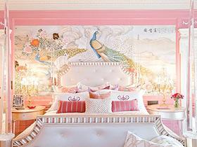 浪漫少女情怀 16款粉色卧室背景墙效果图