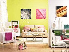 15張彩色沙發背景墻效果圖 清新感十足