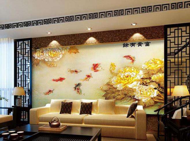 中式沙发背景墙装修效果图大全2013图片