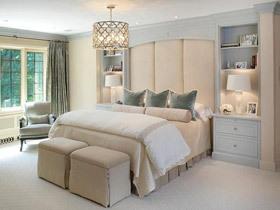 让空间和谐 19款咖色床头软包图片