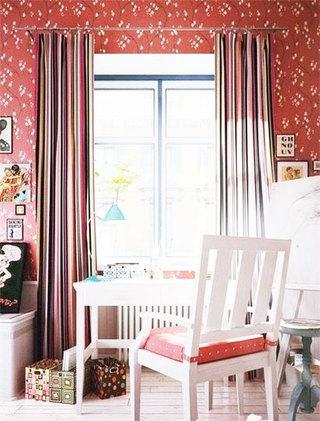 田园风格卧室窗帘窗帘图片