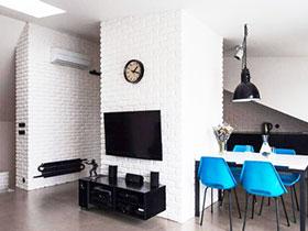 砖墙电视背景墙 12图回到最简约