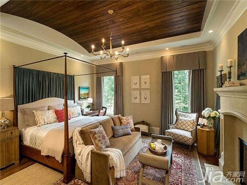 卧室吊顶装修设计效果图