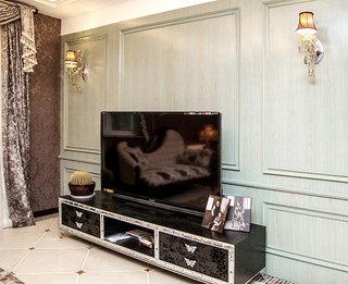 欧式风格大气黑色电视柜效果图