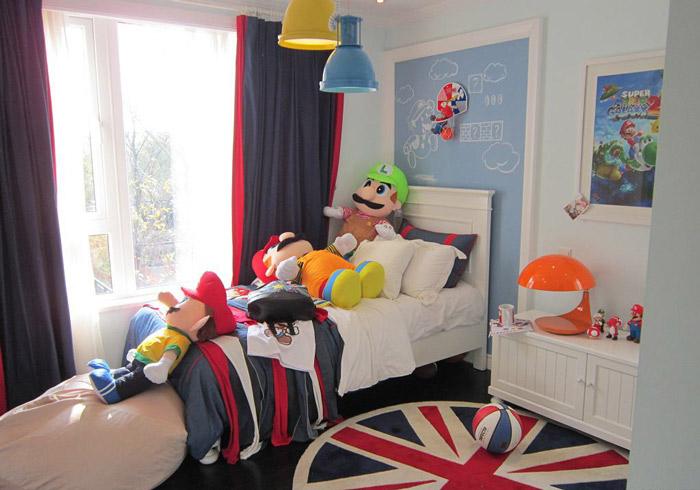 美式风格舒适儿童床图片