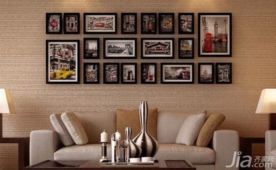 照片墙设计不烦恼 教你如何摆照片图片