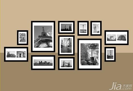 照片墙设计不烦恼 教你如何摆照片_北京新闻_