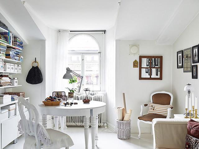 欧式风格小清新白色书桌图片