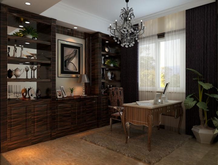 欧式风格奢华书桌图片
