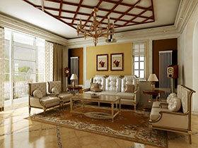17张欧式沙发背景墙效果图 奢华大气