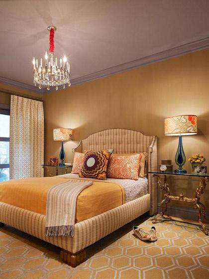 美式风格格子床头软包设计