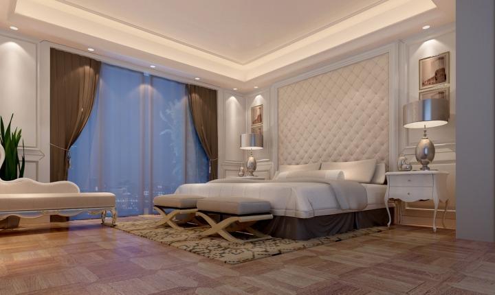 欧式风格豪华床头软包设计