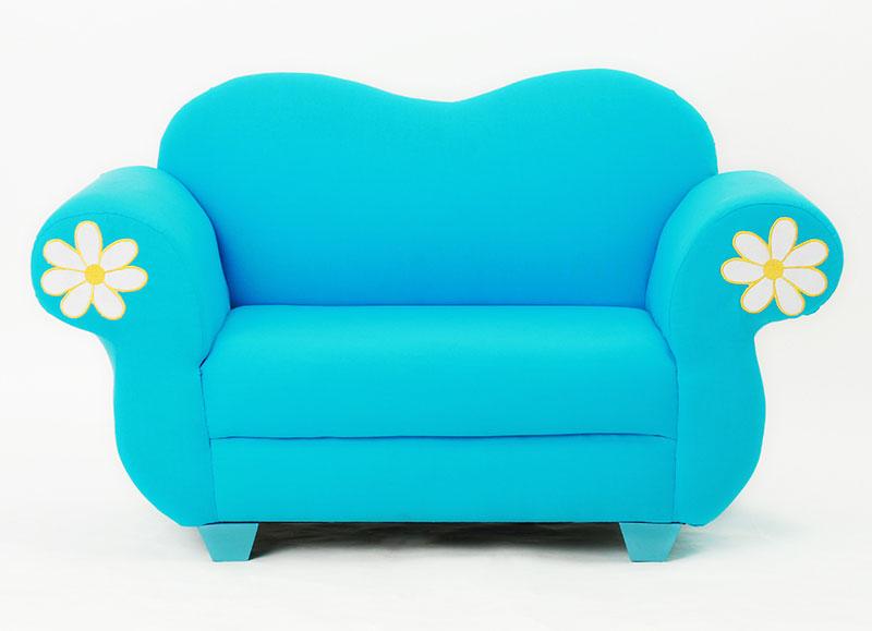 可爱蓝色沙发图片