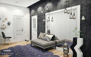 简约风格客厅灯具效果图