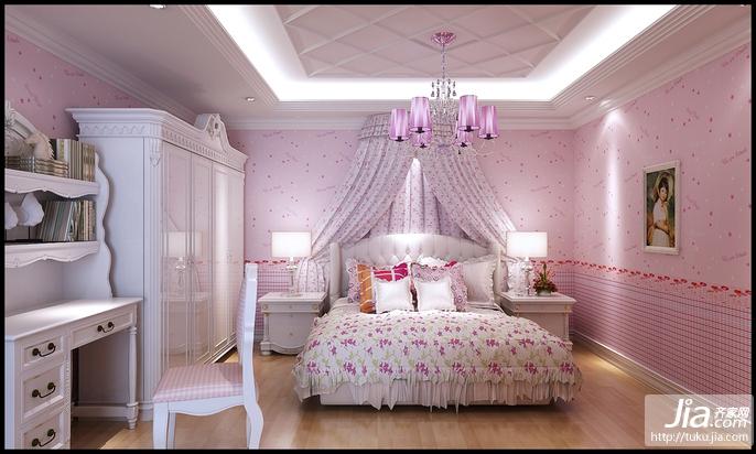 温馨粉色舒适卧室装修图片