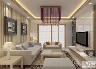 白色系后现代风格客厅效果图装修效果图