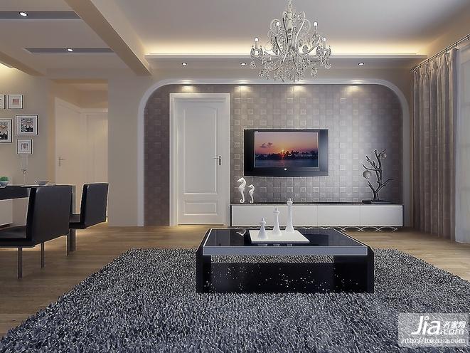 北欧风格创意家装 时尚大气客厅装修图片