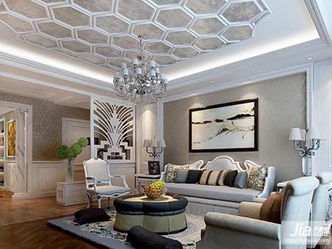 上林溪后现代奢华三居室装修图片