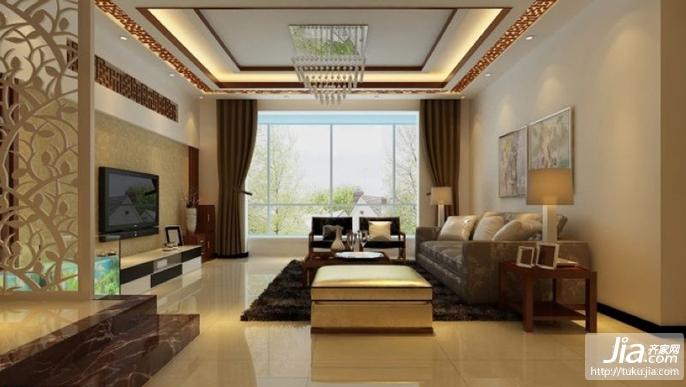 永康国际公寓_三室两厅两卫效果图装修效果图