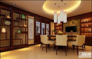 低调奢华的现代中式风装修效果图