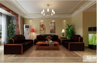 远洋公馆中式古典三居室装修效果图