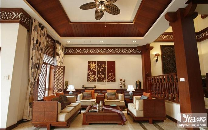 东南亚别墅奢华风装修效果图